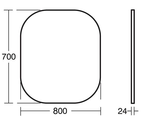 Technical drawing QS-V24128 / T7826BH
