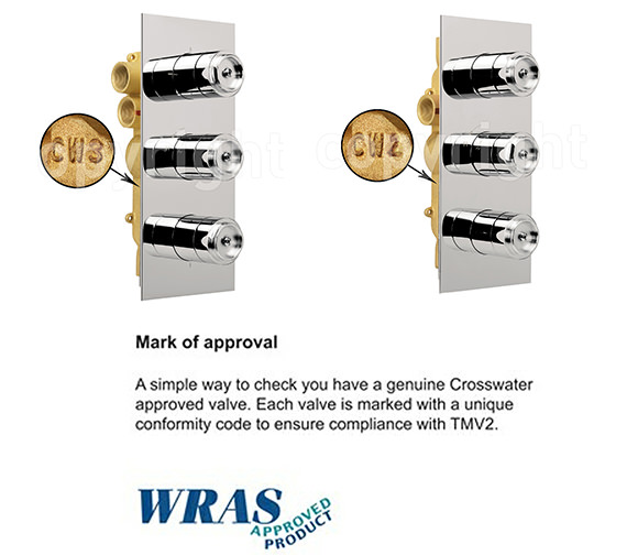 Alternate image of Crosswater Elite Thermostatic Shower Valve With 3 Control