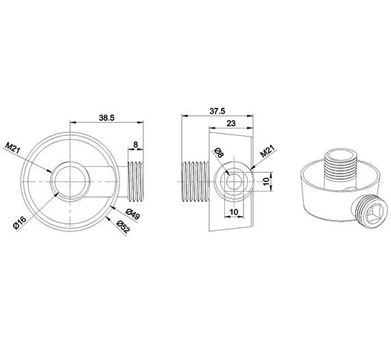 Technical drawing QS-V24213 / WL951C