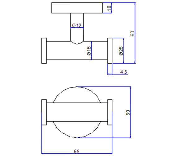 Technical drawing QS-V24236 / CE022C