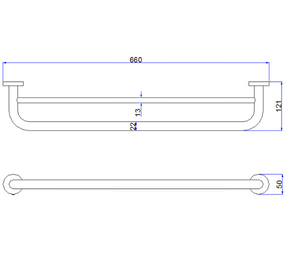 Additional image of Crosswater Central Chrome Towel Rail