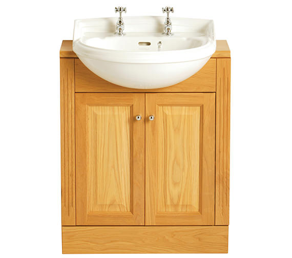 Additional image of Heritage Dorchester 475 x 395mm Cloakroom Semi Recessed Basin
