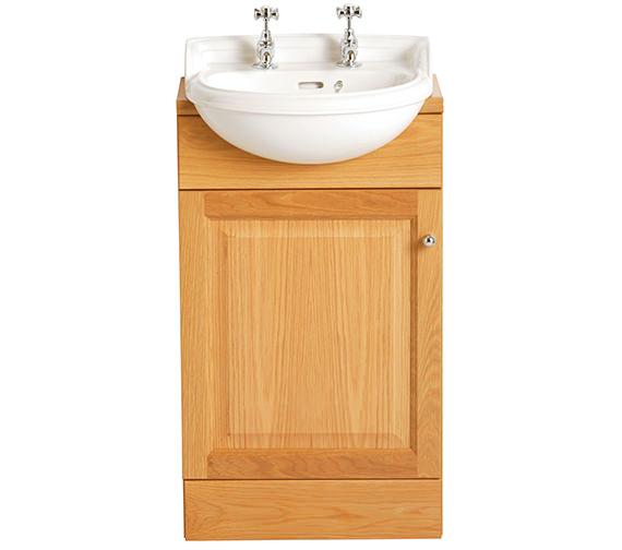 Heritage Dorchester 1 Taphole Cloakroom Semi-Recessed Basin