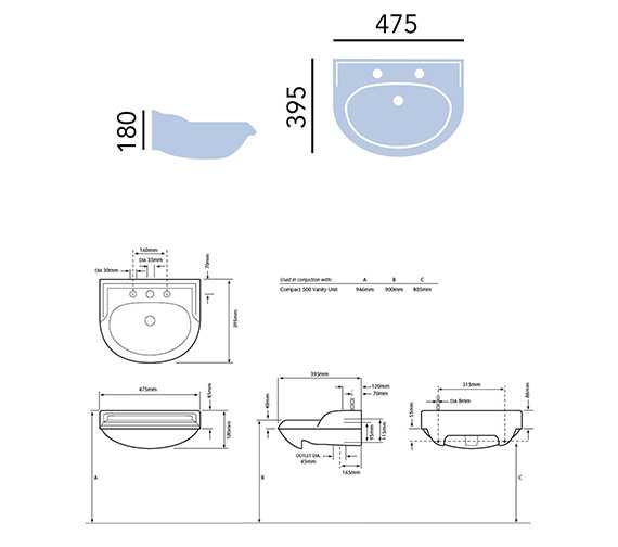 Technical drawing QS-V24275 / PDW371
