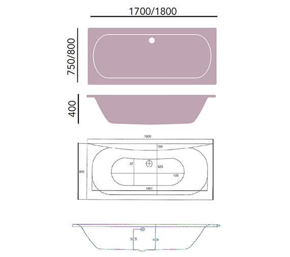 Technical drawing QS-V24397 / BKDW01SS