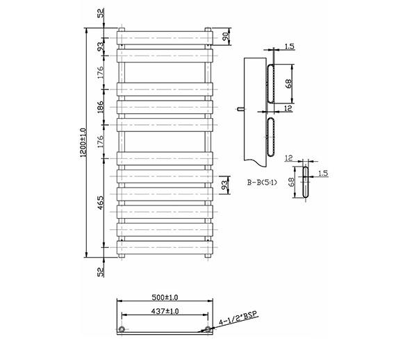 Technical drawing QS-V19803 / BEO-2121
