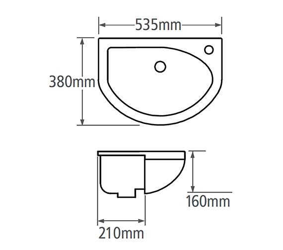 Technical drawing QS-V14105 / M2SCBAS46