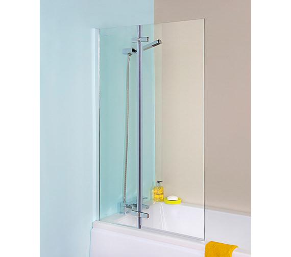 Premier Ella 745 x 1400mm Straight Hinged Bath Screen