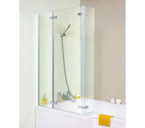 Premier Ella 800-810 x 1400mm Square Hinged Bath Screen