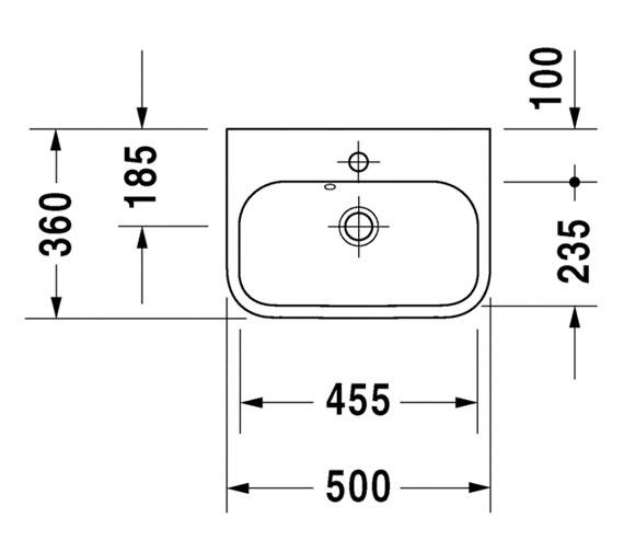 Technical drawing QS-V24800 / 0710500060