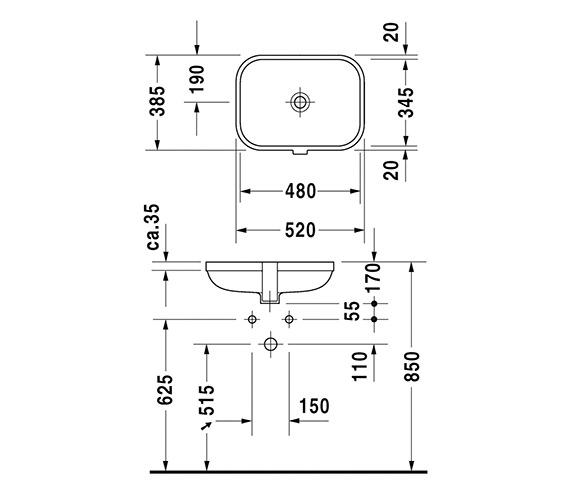 Technical drawing QS-V24802 / 0457480000
