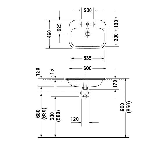Technical drawing QS-V24803 / 0483600000