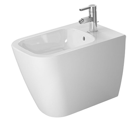 Duravit Happy D.2 1TH Floor Standing Back To Wall Bidet 365 x 570mm