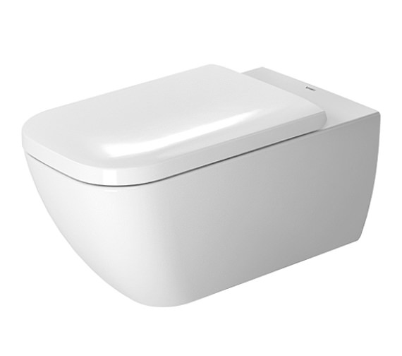Duravit Happy D.2 Wall Mounted Rimless Toilet 365 x 620mm