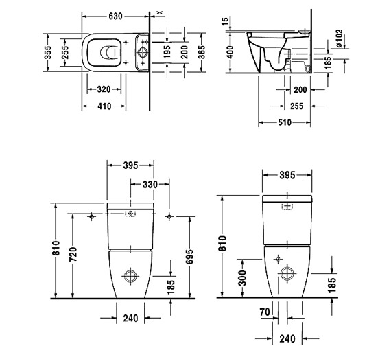 Technical drawing QS-V24825 / 2134090000