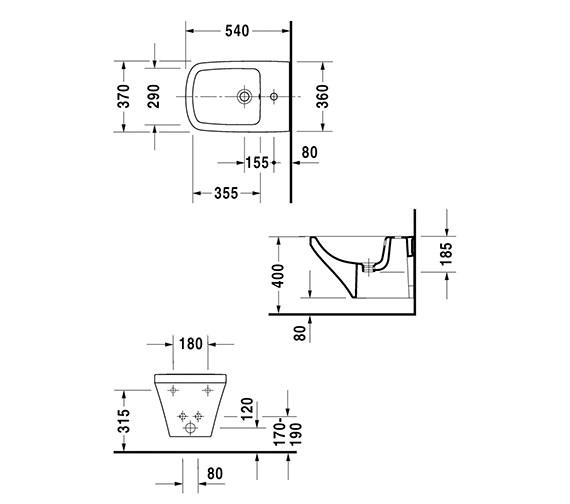 Technical drawing QS-V24904 / 2282150000