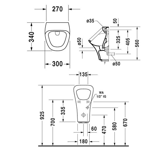 Technical drawing QS-V24910 / 2804310000