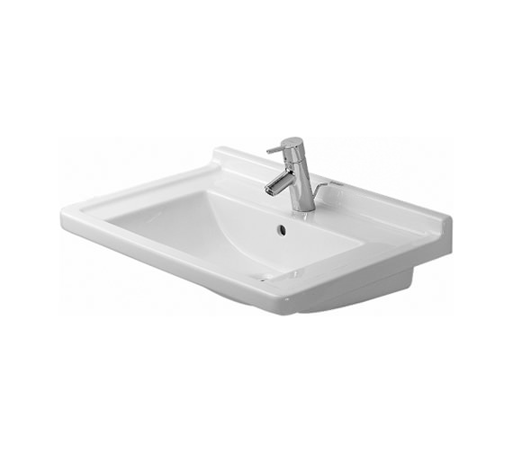 Additional image of Duravit DuraStyle 650mm Vanity Unit With 700mm Starck 3 Basin