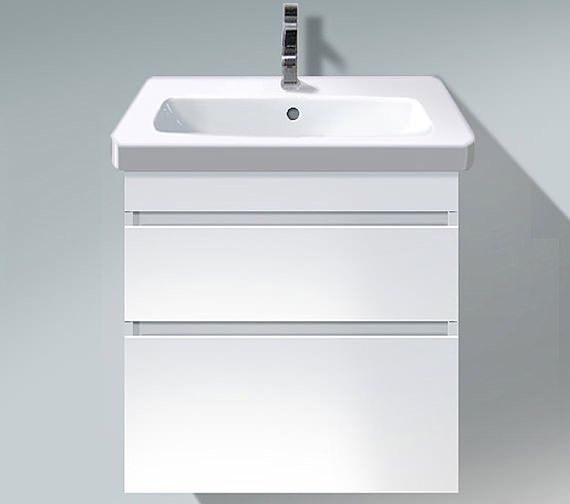 Duravit DuraStyle 580mm 2 Drawers Unit With 650mm Basin - DS 6480