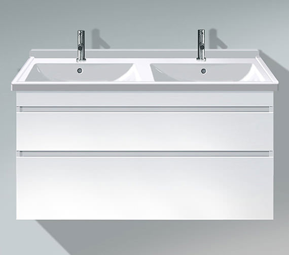 Duravit DuraStyle 1200mm 2 Drawers Unit With Starck 3 Double Basin