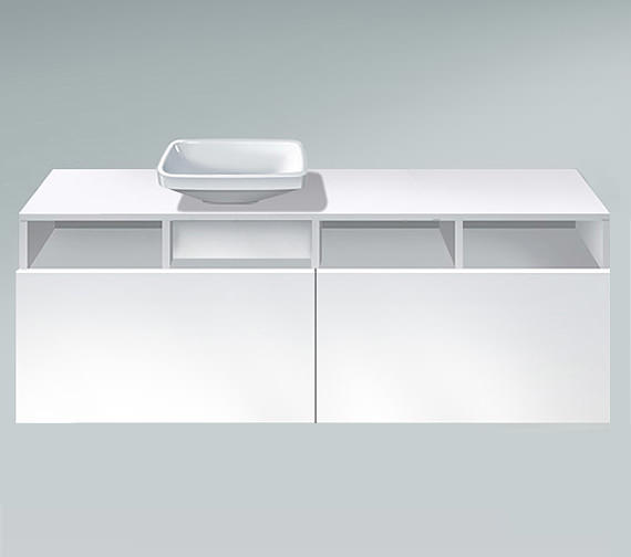 Duravit DuraStyle 1400mm 2 Pull Out Compartment Unit - DS6785L1818