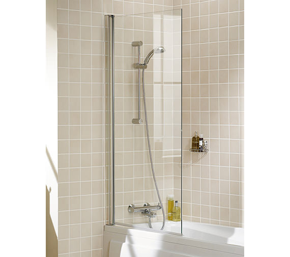 Lakes Classic Square Bath Screen 800 x 1500mm Silver