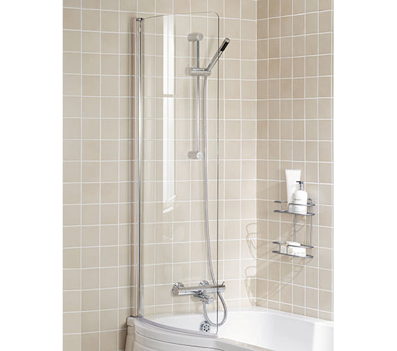 Lakes Classic Silver Arc Bath Screen 730 x 1400mm - ARC 05