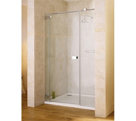 Lakes italia caldoro frame less hinged shower door 1400 x for 1400 shower door