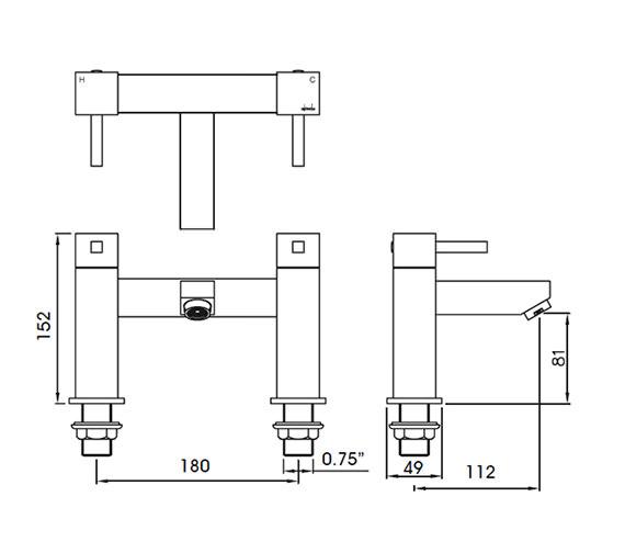 Technical drawing QS-V25308 / AB1285