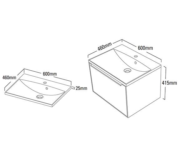 Technical drawing QS-V25346 / VIS600WW