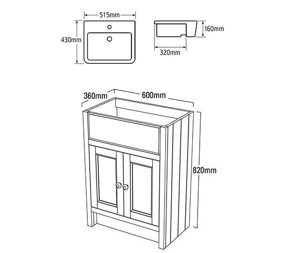 Technical drawing QS-V25362 / HAM600SCT.VN