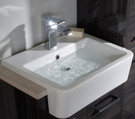 Roper Rhodes Hampton 600mm Vanilla Semi Countertop Unit With Basin