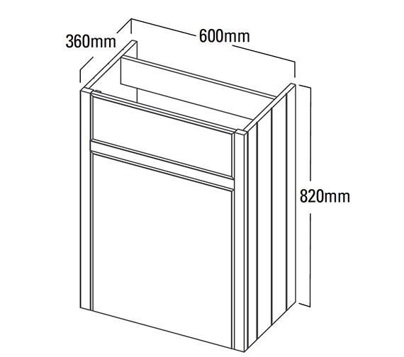 Technical drawing QS-V25366 / HAM600BTW.VN