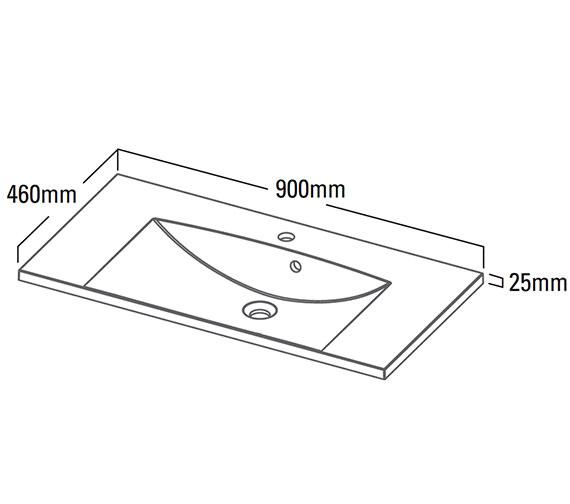 Technical drawing QS-V25374 / VIS900C