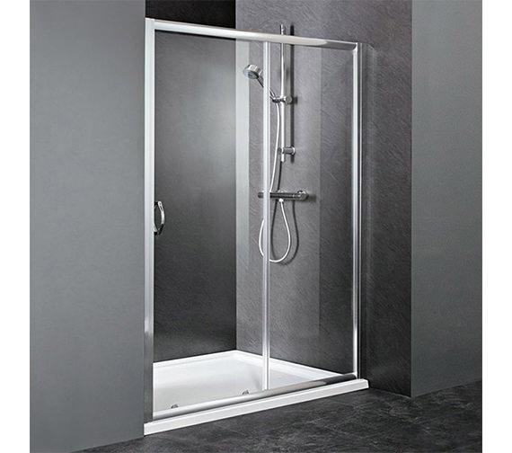 Lauren ella sliding shower door 1000 x 1850mm for 1000 bifold shower door