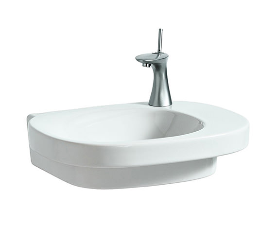 Laufen Mimo 55x44cm Asymmetrical Undersurface Ground Basin 0 Tap Hole