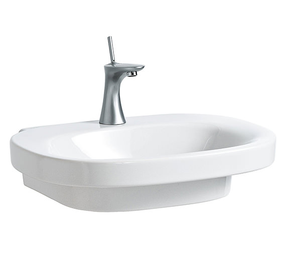 Laufen Mimo 650 x 440mm Undersurface Ground Basin Without Tap Hole