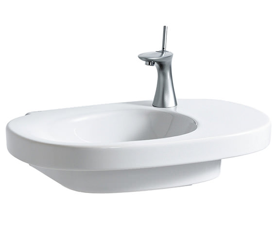Laufen Mimo 650 x 440mm Asymmetrical Washbasin Without Tap Hole