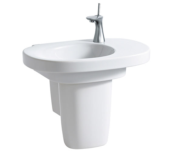 Additional image of Laufen Mimo 650 x 440mm Asymmetrical Washbasin Without Tap Hole