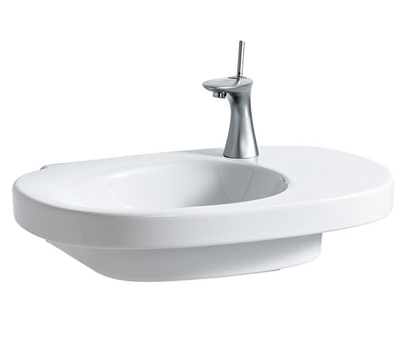 Laufen Mimo 65x44cm Asymmetrical Undersurface Ground Basin Without Tap Hole