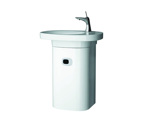 Laufen Mimo Vanity Unit With Left Hinged Door 380 x 650mm White