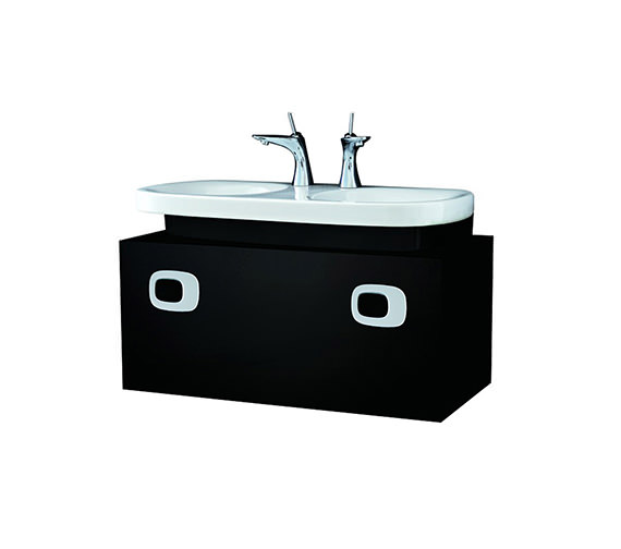Laufen Mimo 1000mm Black Vanity Unit For Double Washbasin