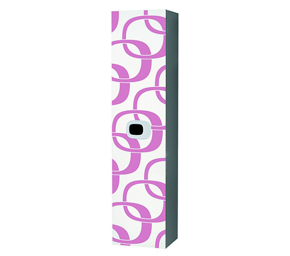 Laufen Mimo Tall Cabinet 360 x 1500mm - White With Pink Graphics