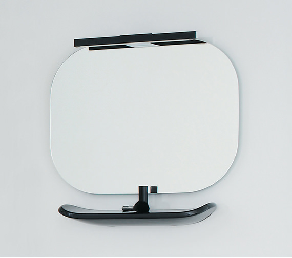 Laufen Mimo Mirror With Light 550 x 450mm - Black