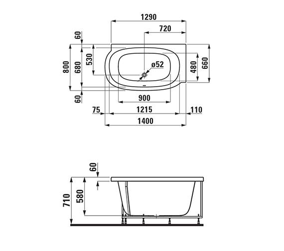 Technical drawing QS-V25568 / 2.2155.5.000.000.1