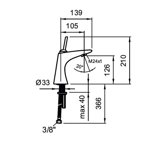 Technical drawing QS-V25570 / 3.1155.1.004.110.1