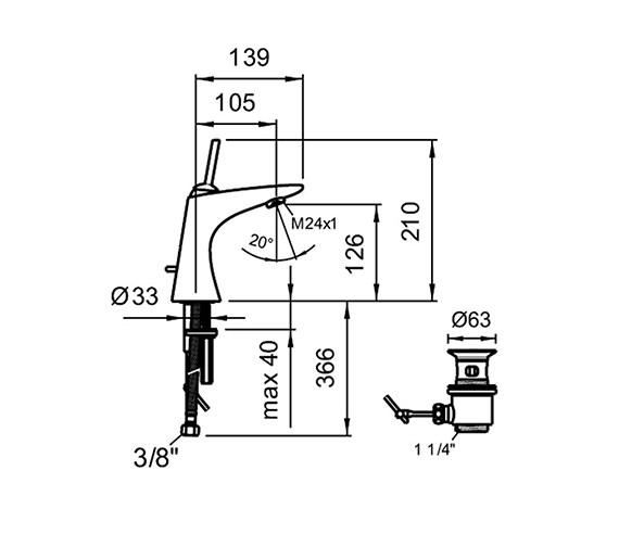 Technical drawing QS-V25571 / 3.1155.1.004.111.1