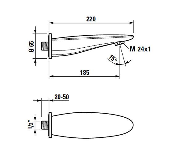 Technical drawing QS-V25580 / 3.7155.0.004.060.1