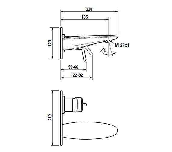 Technical drawing QS-V25581 / 3.1155.6.004.120.1