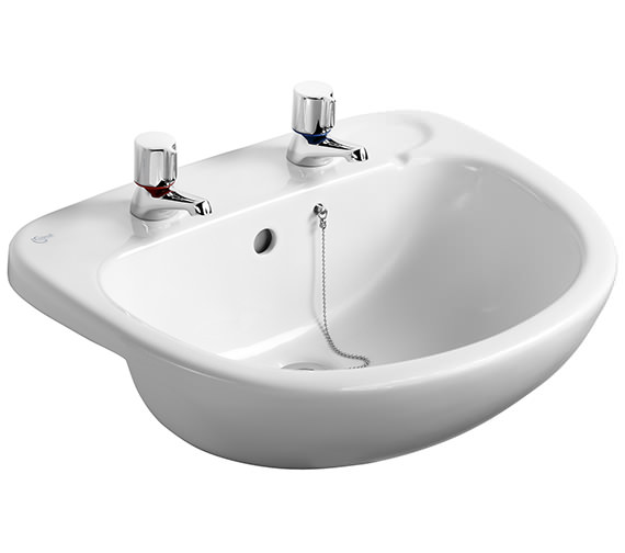 Additional image of Ideal Standard Studio 560 x 460mm Semi Countertop 1 Taphole Basin